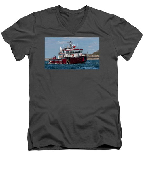 Boston Fire Rescue Men's V-Neck T-Shirt by Brian MacLean