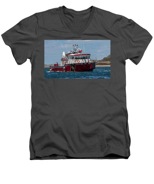 Boston Fire Rescue Men's V-Neck T-Shirt