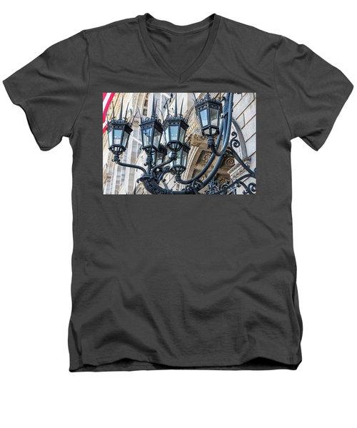 Boston Lamps Men's V-Neck T-Shirt