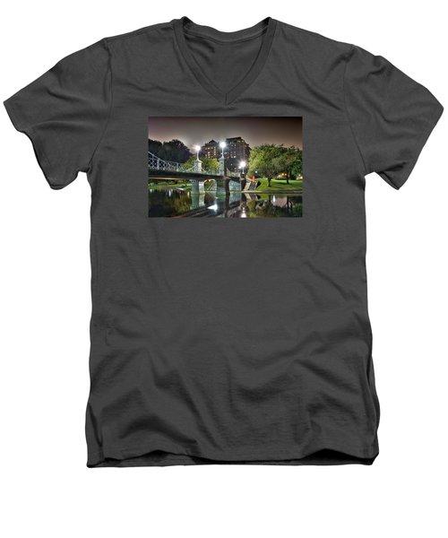 Boston Public Garden Men's V-Neck T-Shirt