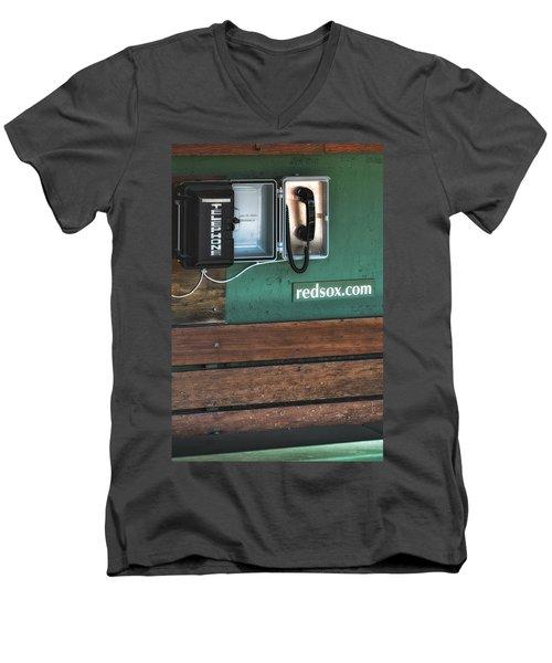 Boston Red Sox Dugout Telephone Men's V-Neck T-Shirt