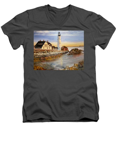 Boston Rocky Coast Men's V-Neck T-Shirt