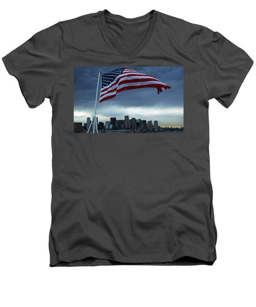 Boston Strong Men's V-Neck T-Shirt