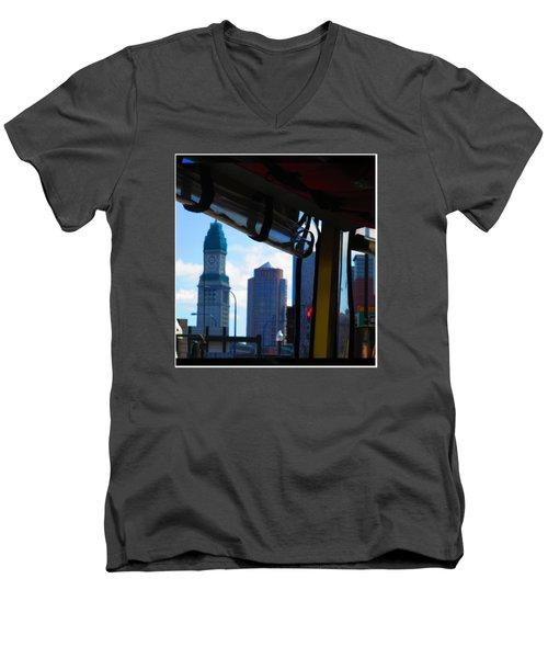Boston Views From Tour Bus Window Men's V-Neck T-Shirt