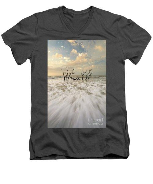 Botany Bay In South Carolina Men's V-Neck T-Shirt