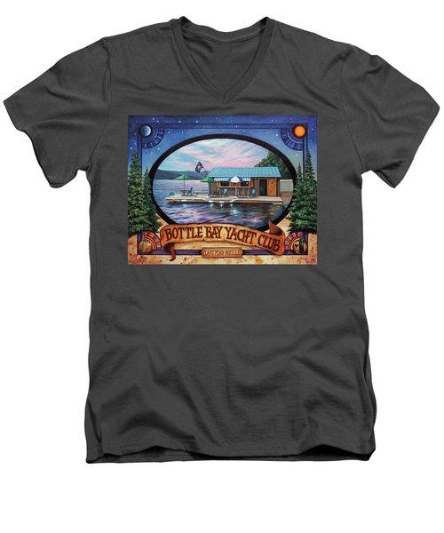 Bottle Bay Yacht Club Men's V-Neck T-Shirt