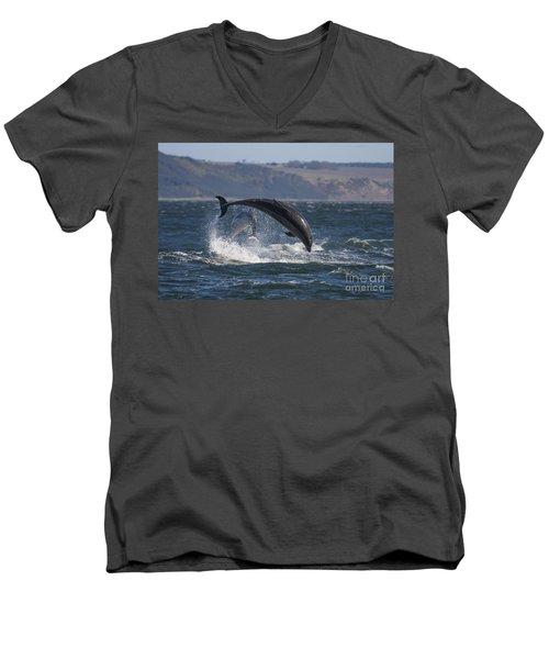 Bottlenose Dolphins - Scotland  #25 Men's V-Neck T-Shirt