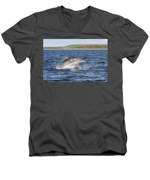 Bottlenose Dolphin - Scotland  #32 Men's V-Neck T-Shirt