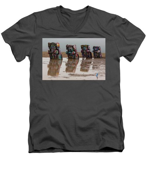 Men's V-Neck T-Shirt featuring the photograph Bottoms Up by Stephen Stookey