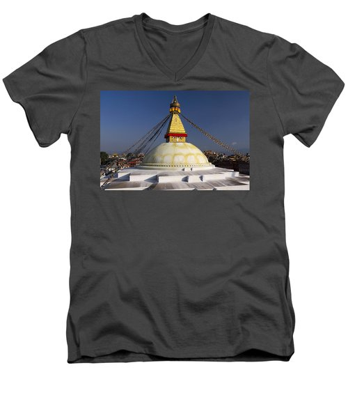 Boudhanath Stupa Men's V-Neck T-Shirt