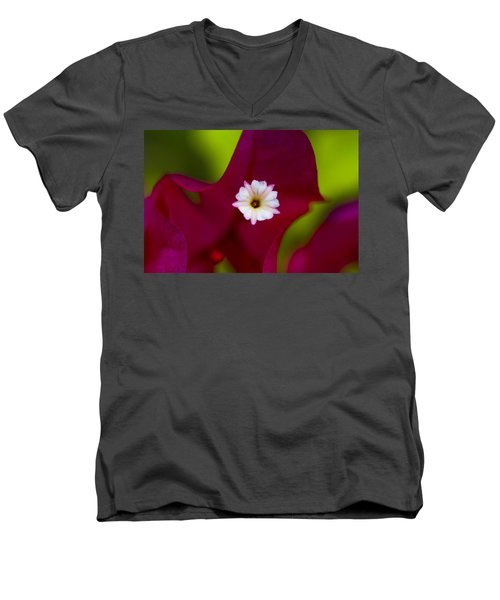 Bougainvillea Men's V-Neck T-Shirt by Marlo Horne