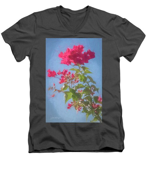 Bougainvillea Morning Men's V-Neck T-Shirt