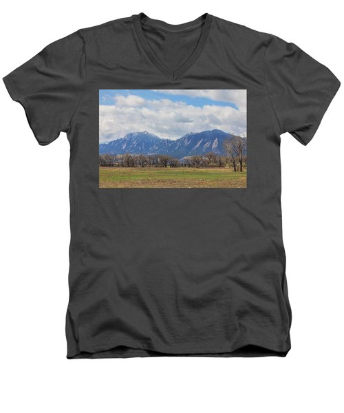 Men's V-Neck T-Shirt featuring the photograph Boulder Colorado Prairie Dog View  by James BO Insogna