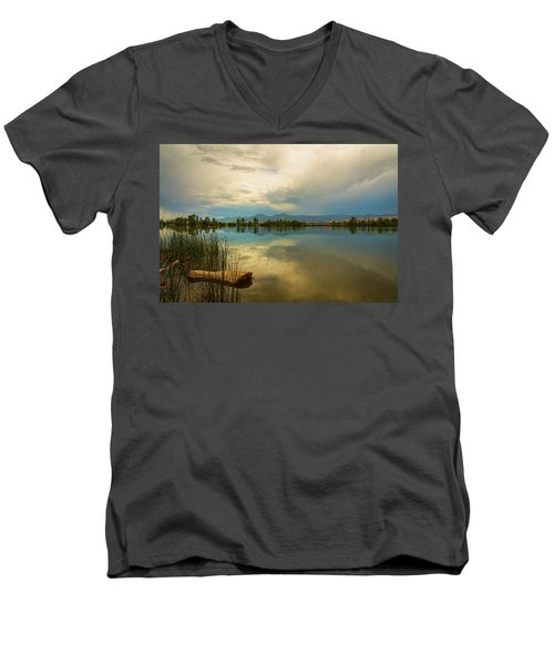Men's V-Neck T-Shirt featuring the photograph Boulder County Colorado Calm Before The Storm by James BO Insogna