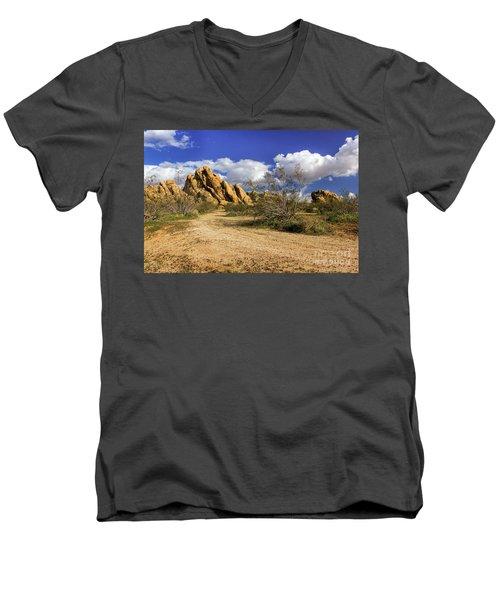 Boulders At Apple Valley Men's V-Neck T-Shirt by James Eddy