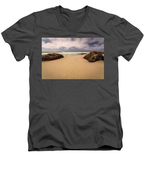 Boulders On The Beach Men's V-Neck T-Shirt
