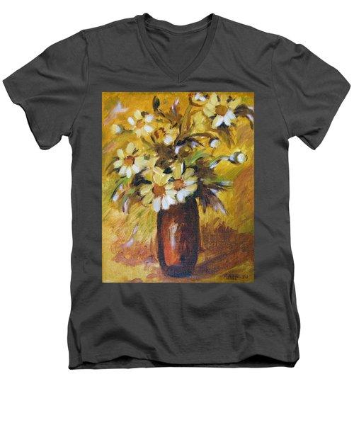 Bouquet Flowers Of Gold Men's V-Neck T-Shirt