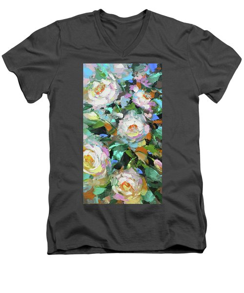 Bouquet Of Peonies  Men's V-Neck T-Shirt by Dmitry Spiros