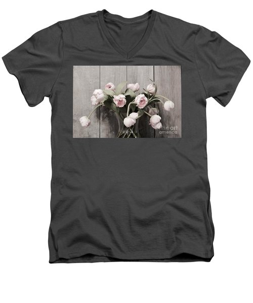 Bouquet Of Tulips Men's V-Neck T-Shirt by Jeannie Rhode