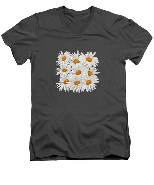 Bouquet Of White Daisies Men's V-Neck T-Shirt