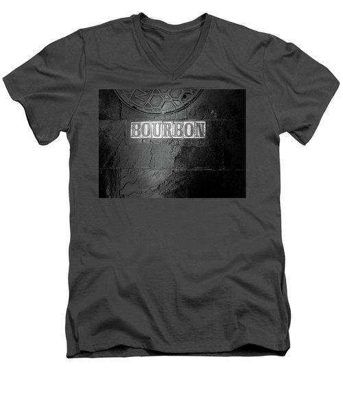 Bourbon In Black And White Men's V-Neck T-Shirt