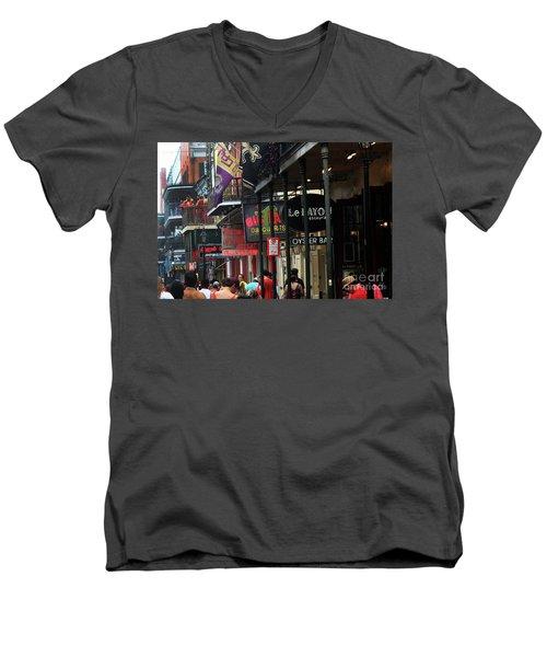 Bourbon Street Men's V-Neck T-Shirt