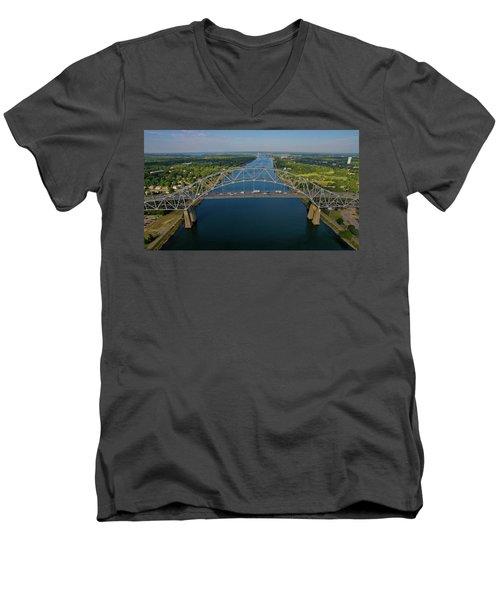Bourne Bridge, Ma Men's V-Neck T-Shirt
