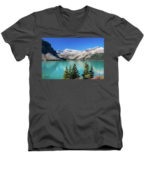 Men's V-Neck T-Shirt featuring the photograph Bow Lake by Tim Kathka