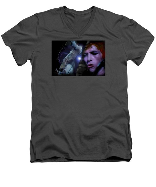 Bowie   A Welcome Star Men's V-Neck T-Shirt