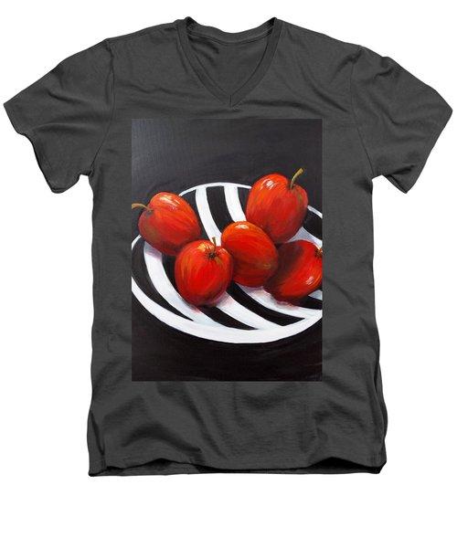 Bowl Of Shiny Apples Men's V-Neck T-Shirt