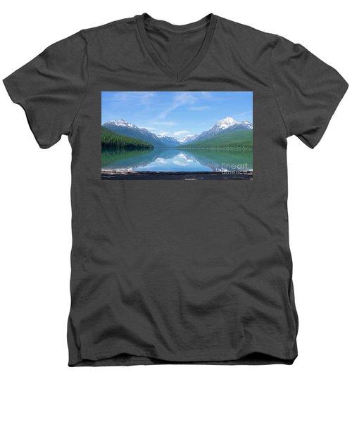 Bowman Lake Mt Men's V-Neck T-Shirt
