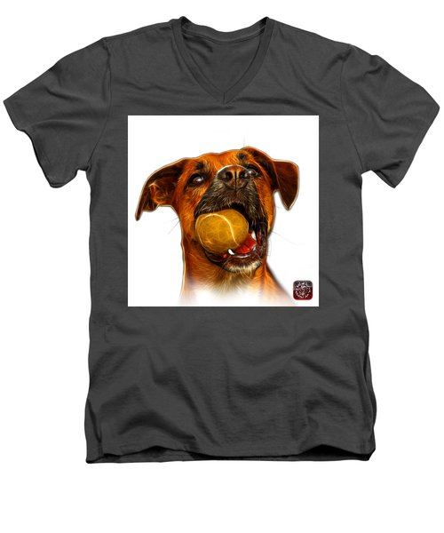 Boxer Mix Dog Art - 8173 - Wb Men's V-Neck T-Shirt