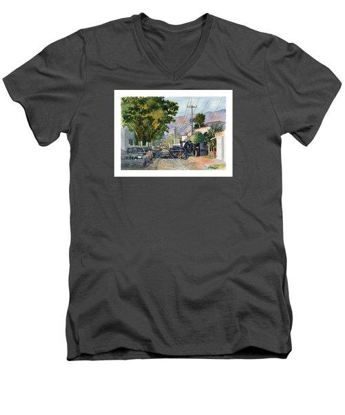 Boy With Bike, Mx Men's V-Neck T-Shirt