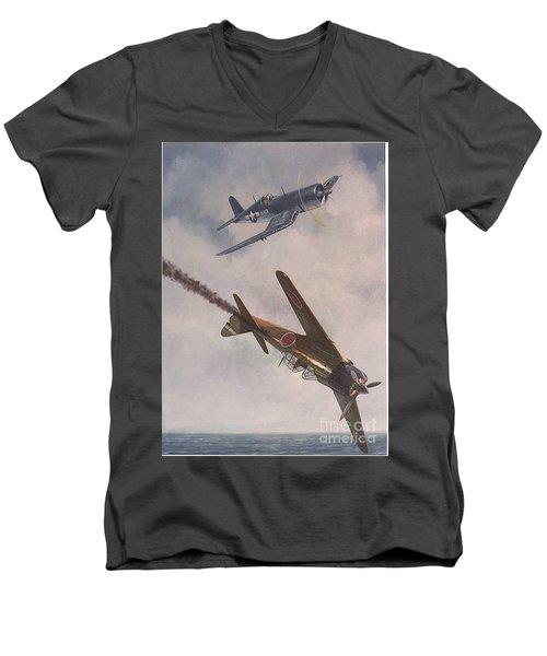 Boyington Christmas Men's V-Neck T-Shirt
