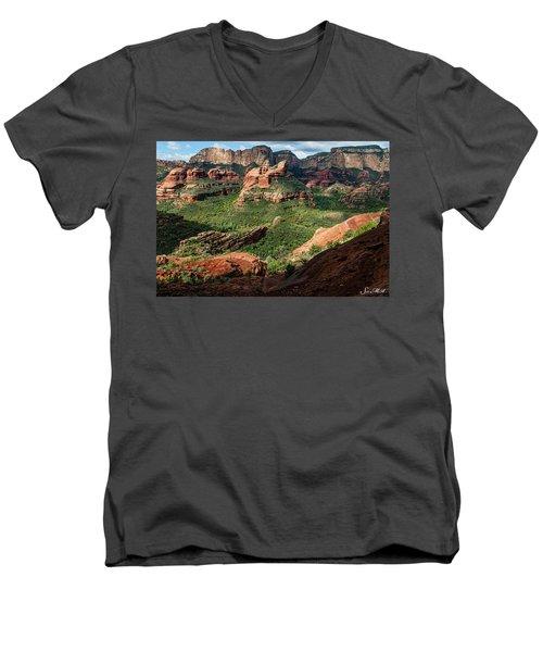 Boynton Canyon 05-942 Men's V-Neck T-Shirt by Scott McAllister