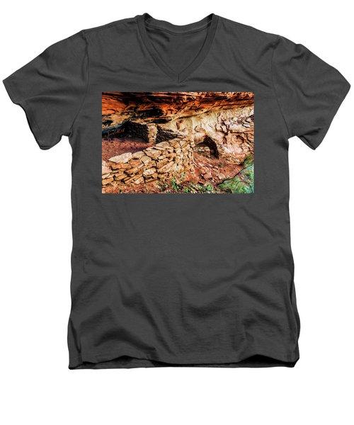 Boynton Canyon 08-012 Men's V-Neck T-Shirt by Scott McAllister