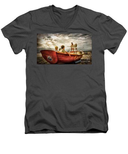 Boys Of Summer Cape May New Jersey Men's V-Neck T-Shirt