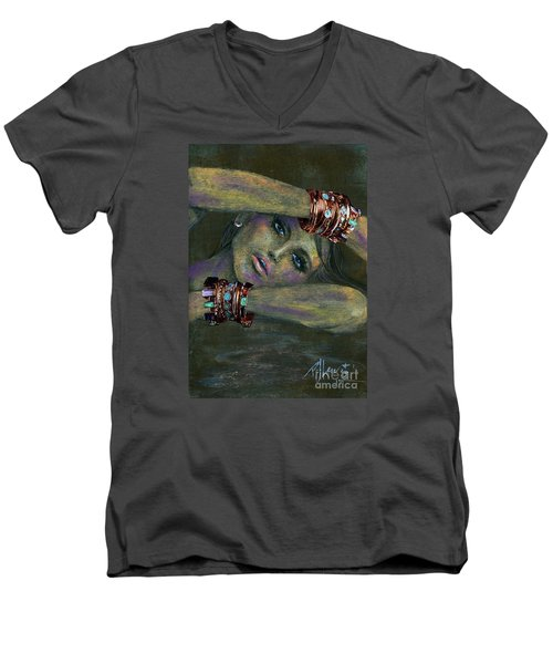 Bracelets  Men's V-Neck T-Shirt by P J Lewis