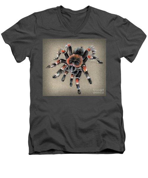 Brachypelma Smithi  Mexican Red Knee Tarantula Men's V-Neck T-Shirt