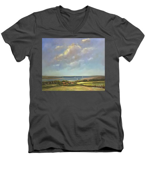 Brancaster Staithes, Norfolk Men's V-Neck T-Shirt by Genevieve Brown