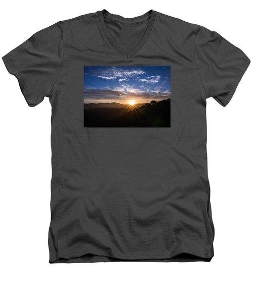 Brand New Day  Men's V-Neck T-Shirt by Jeremy McKay