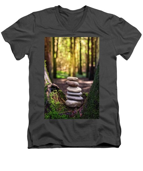 Men's V-Neck T-Shirt featuring the photograph Brand New Day by Marco Oliveira