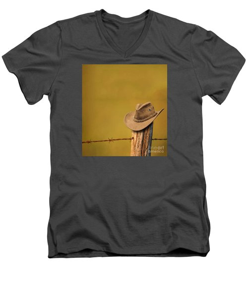 Branding Men's V-Neck T-Shirt by Jim  Hatch