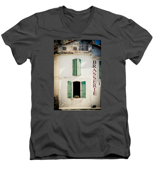 Men's V-Neck T-Shirt featuring the photograph Brasserie by Jason Smith
