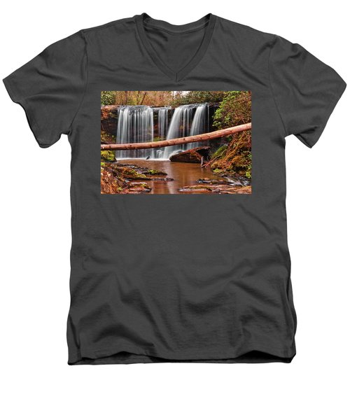 Brasstown Falls 002 Men's V-Neck T-Shirt