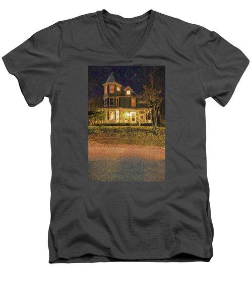 Brattleboro Victorian Men's V-Neck T-Shirt by Tom Singleton