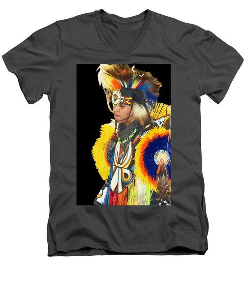 Brave 3 Men's V-Neck T-Shirt by Audrey Robillard