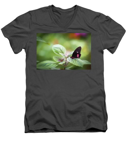 Brave Butterfly  Men's V-Neck T-Shirt
