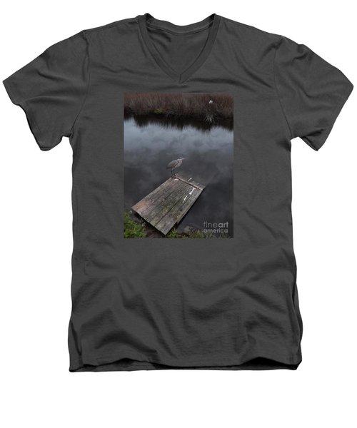 Brave Heron Men's V-Neck T-Shirt
