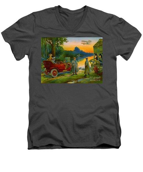 Brave New World 1910 Men's V-Neck T-Shirt by Padre Art